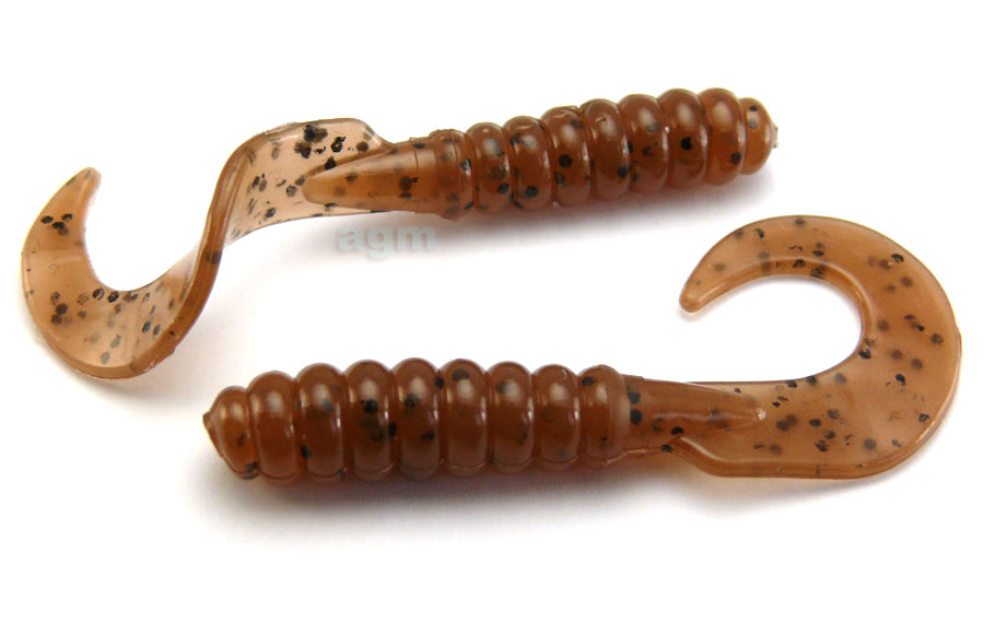 "AGM 3"" Curltail Grub - Pumpkinseed (10pcs)"