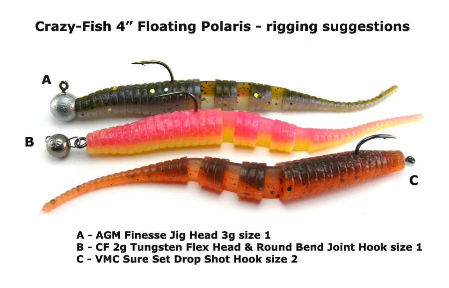"Crazy Fish 4"" Floating Polaris - 66 Pearl Snow (6pcs)"