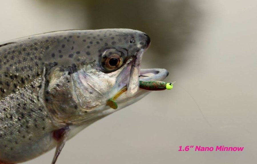 """Crazy Fish 1.6"""" Nano Minnow - 6 Chartreuse (8pcs)"""