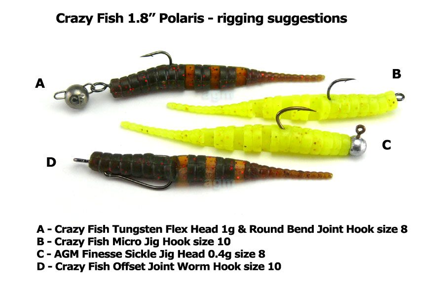"Crazy Fish 1.8"" Polaris - 64 Fluo Orange (8pcs)"