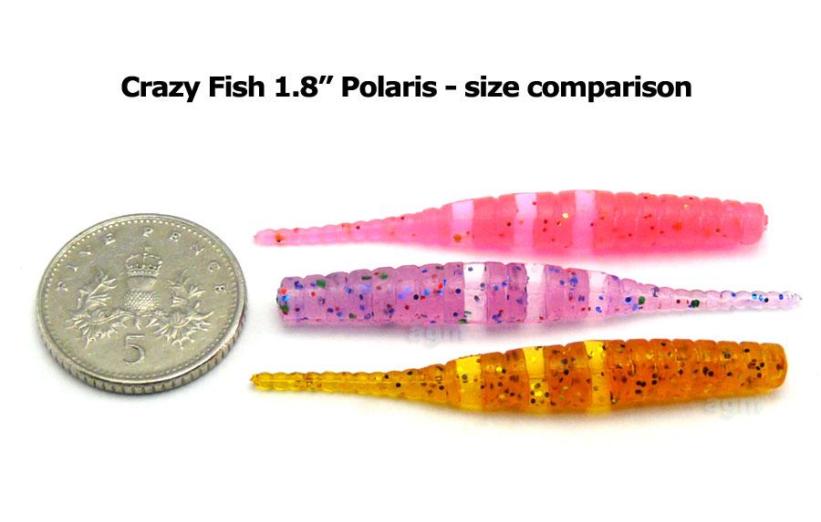"""Crazy Fish 1.8"""" Polaris - 64 Fluo Orange (8pcs)"""