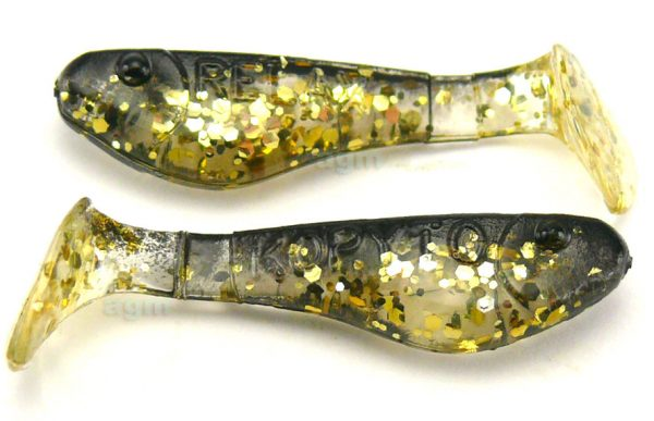 "Relax 1"" Kopyto Shad - Clear/Gold/Black Back (5pcs)"