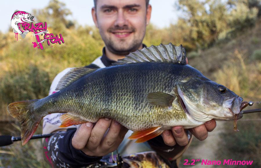 """Crazy Fish 2.2"""" Nano Minnow - 12 Ultraviolet (8pcs)"""