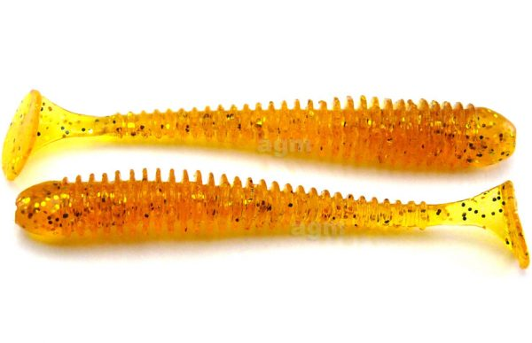 "Crazy Fish 2"" Vibro Worm - 9 Caramel (8pcs)"