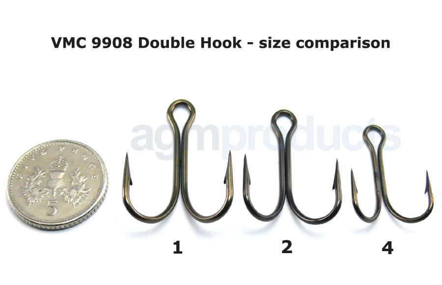 VMC 9908 Double Hook - Size 4 (5pcs)