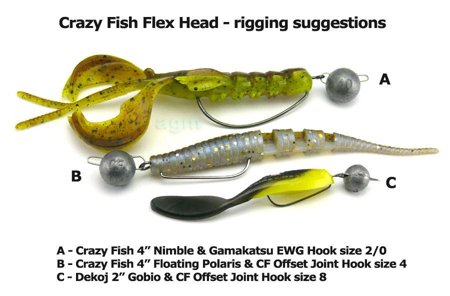 Crazy Fish Flex Head 3g (10pcs)