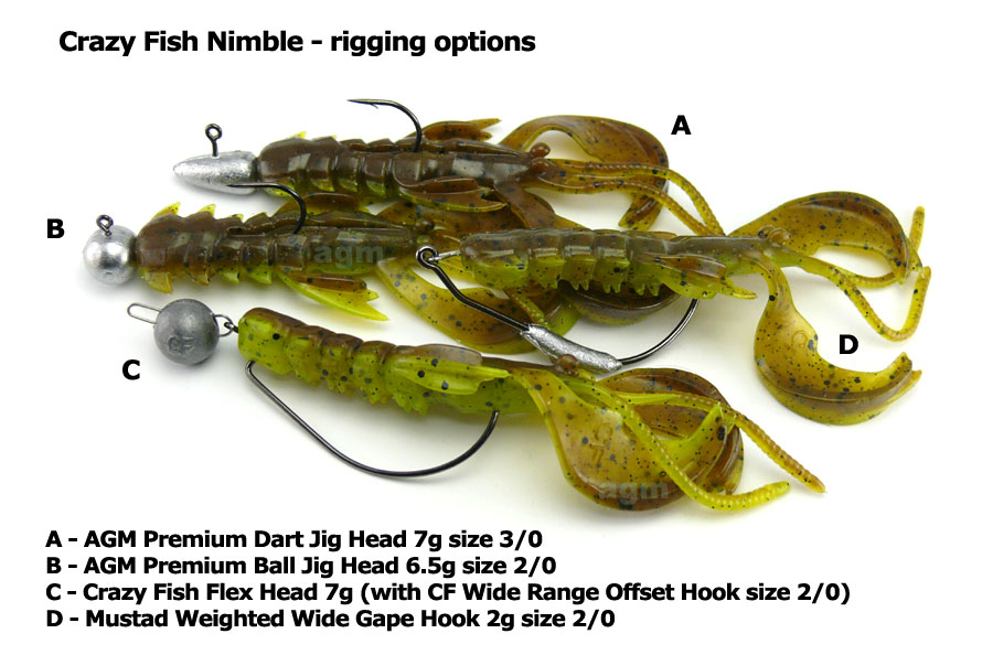 "Crazy Fish 4"" Nimble - 4D Swamp Chartreuse (9pcs)"