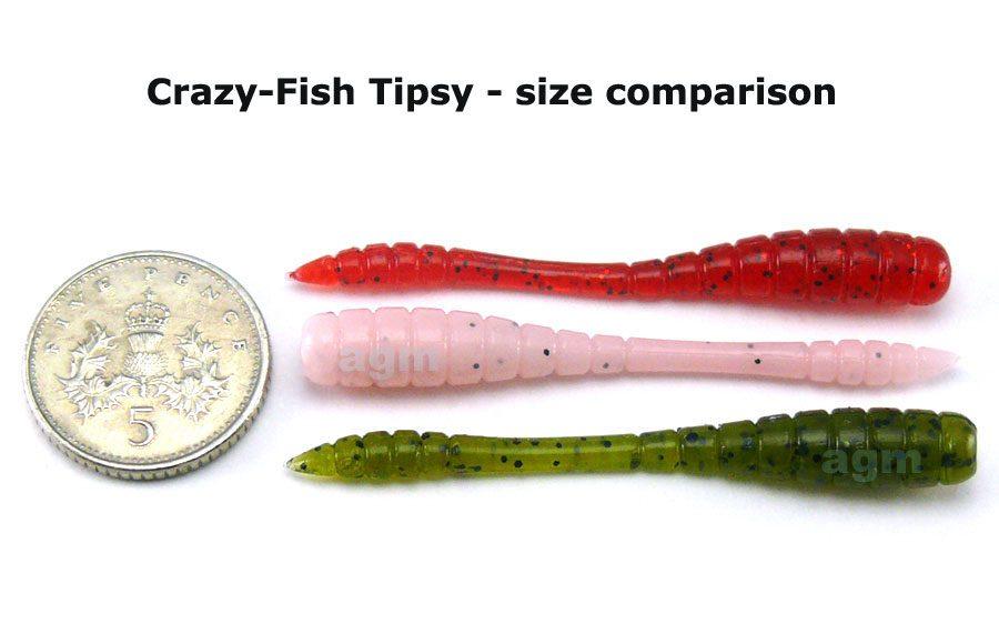 """Crazy Fish 2"""" Tipsy - 14 UV Motor Oil (8pcs)"""