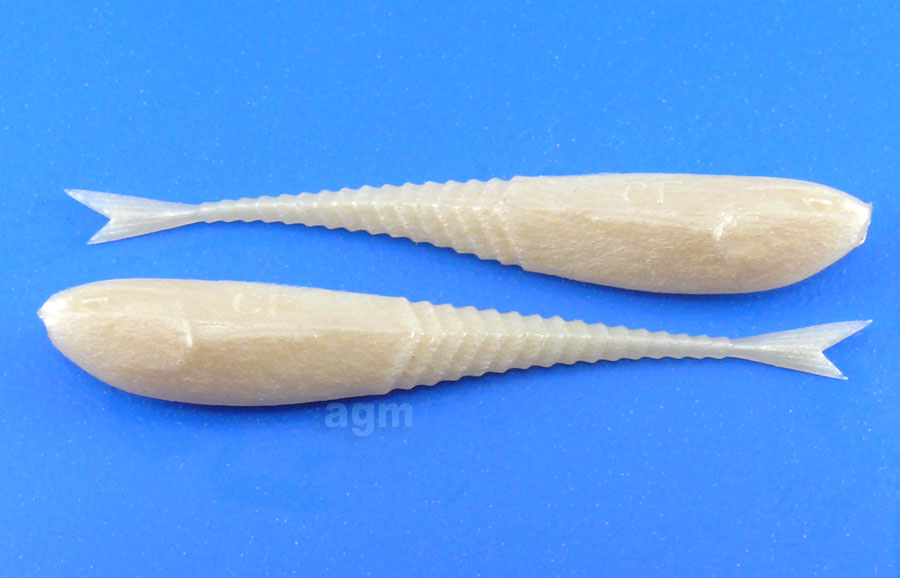 "Crazy Fish 2"" Floating Glider - 66 Pearl Snow (10pcs)"