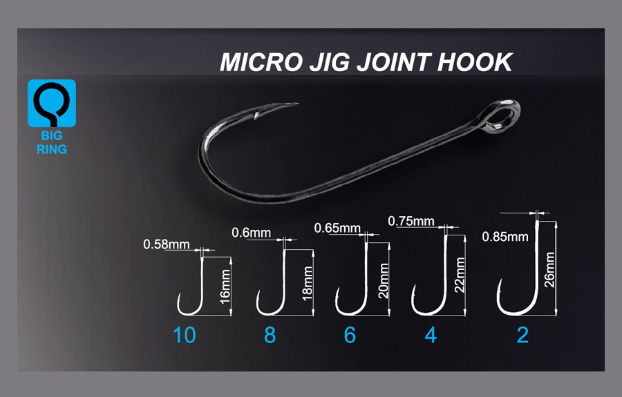 Crazy Fish Micro Jig Joint Hook - Size 10 (20pcs)