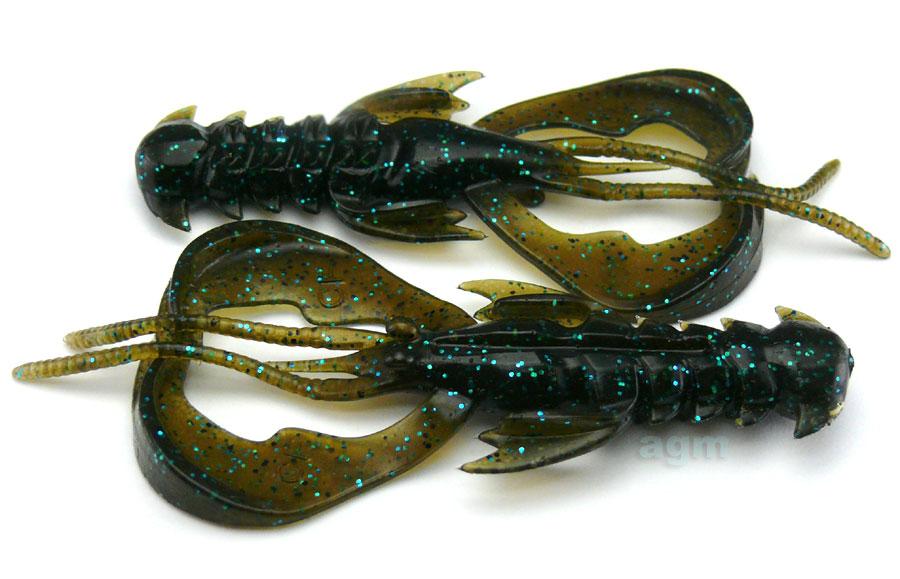 """Crazy Fish 4"""" Nimble - 42 Green Pumpkin Blue (9pcs)"""