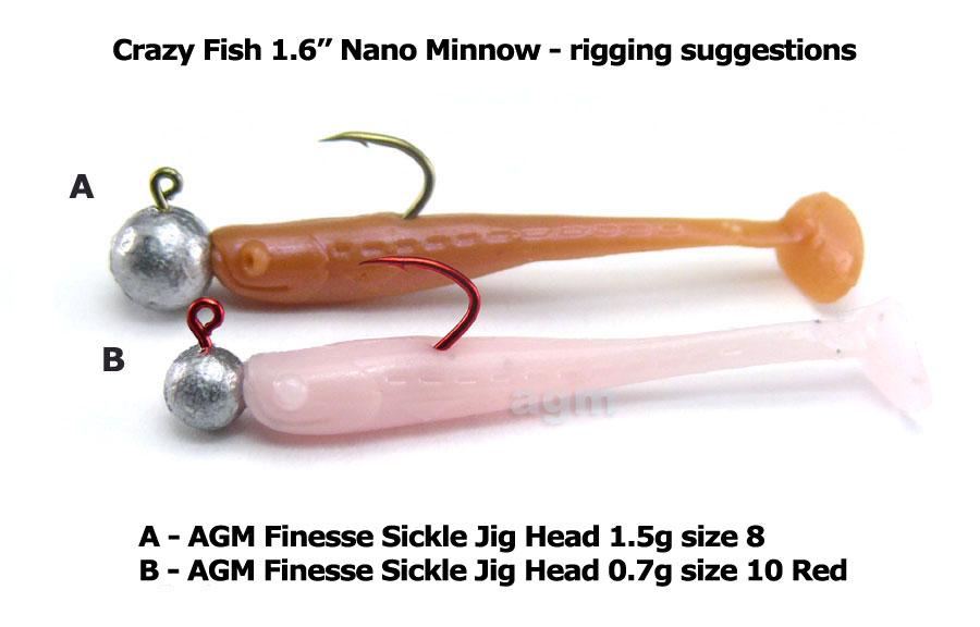 "Crazy Fish 1.6"" Nano Minnow - 1 Olive (8pcs)"