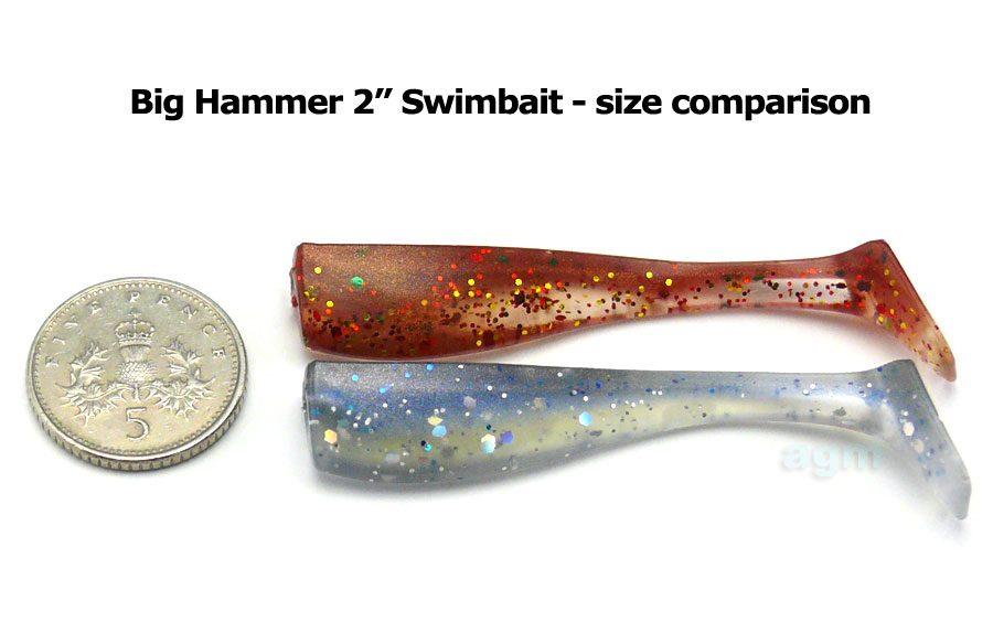 "Big Hammer 2"" Swimbait - Bay Shad (6pcs)"