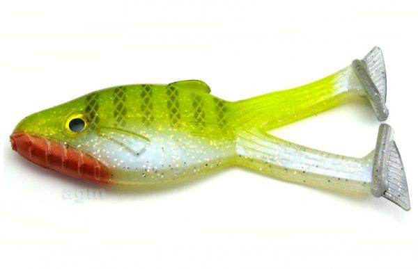 "Big Bite 4"" Buzzing Warmouth - Chartreuse Bluegill (4pcs)"
