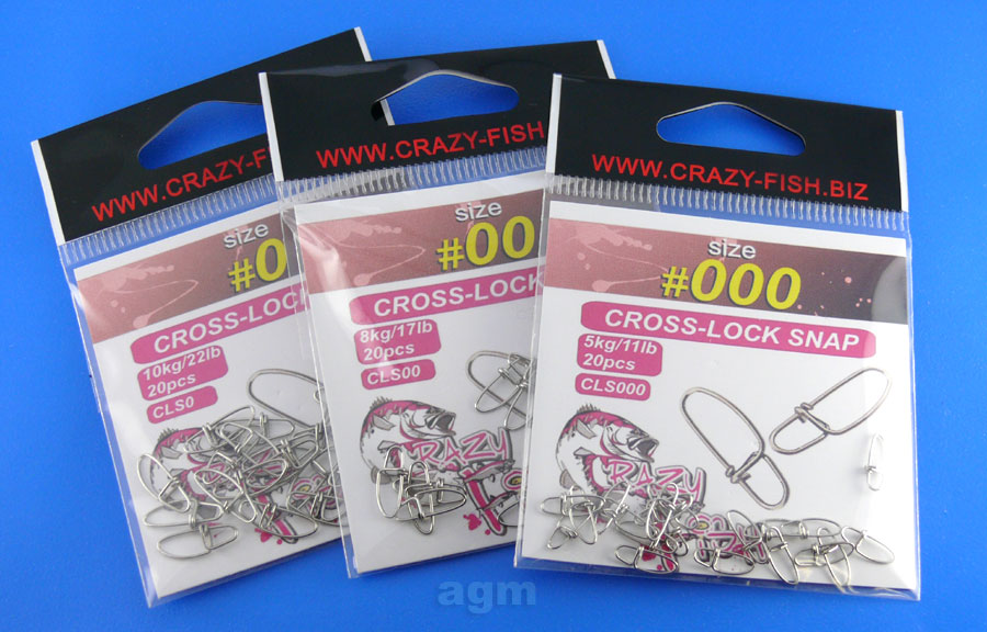 Crazy Fish Cross-Lock Snap - Size #0 (20pcs)