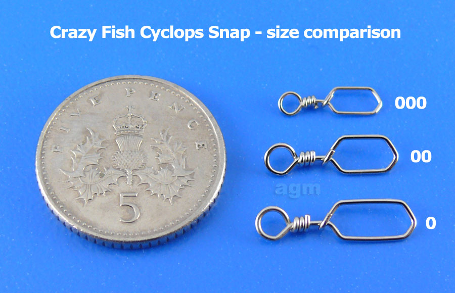 Crazy Fish Cyclops Snap - Size #000 (20pcs)
