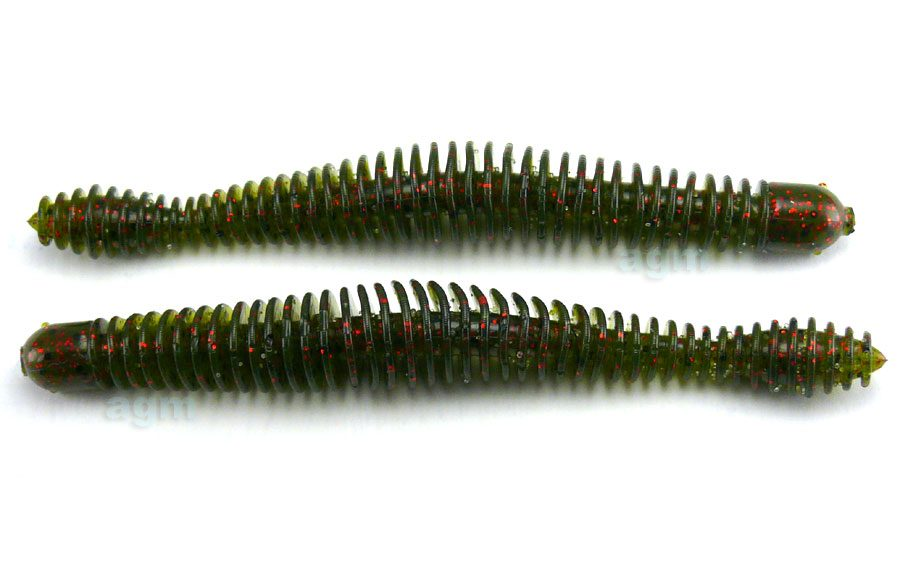 """Big Bite 4.75"""" Coontail Worm - Watermelon Red Flake (7pcs)"""