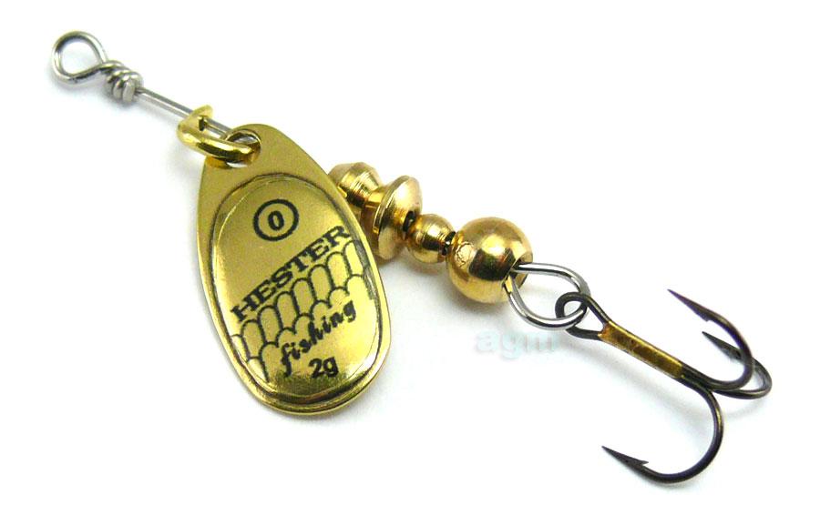 Hester Ospray Spinner 2g - Brass