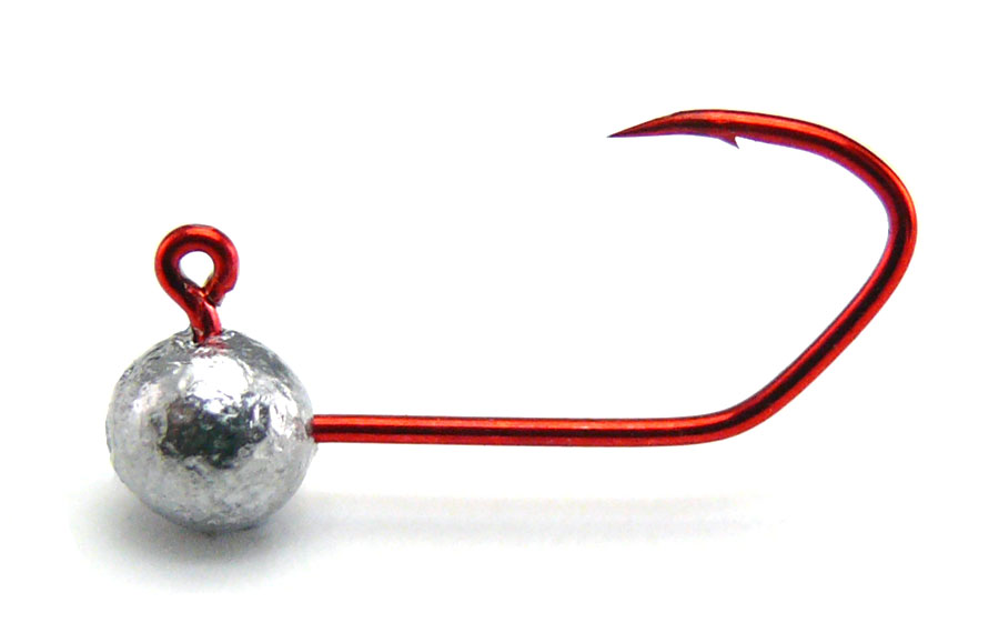 AGM Finesse Sickle Jig Head 0.7g - Size 8 RED (5pcs)