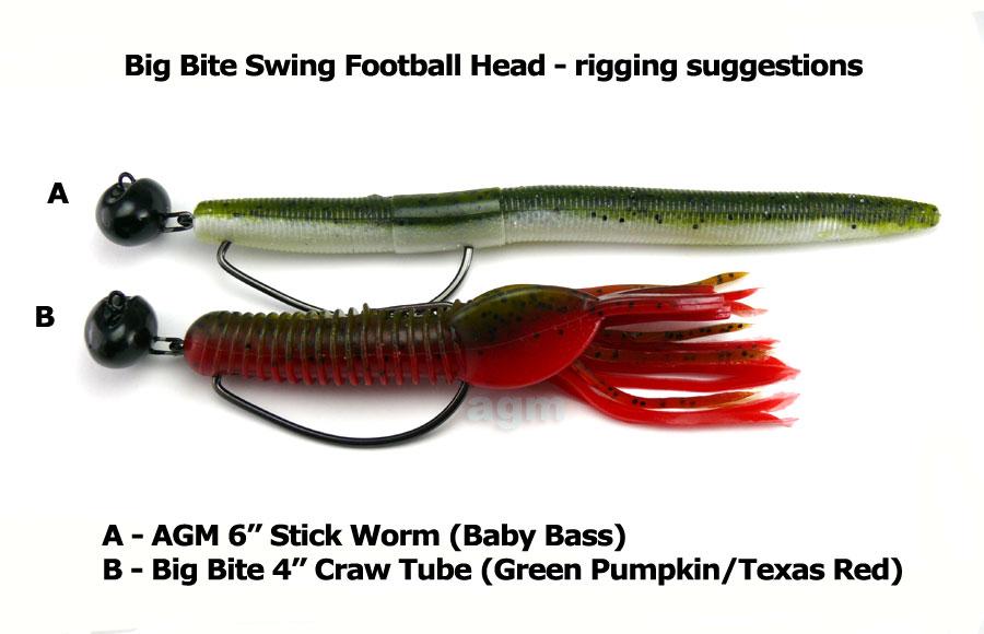 Big Bite Swing Football Head 14g - Size 6/0 (4pcs)