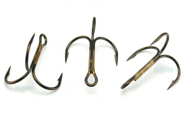 VMC 9649 BZ Treble Hook - Size 1/0 (5pcs)