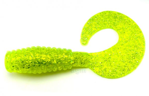 "Kalins Big-N 10"" Grub - Chartreuse/Silver Flake"