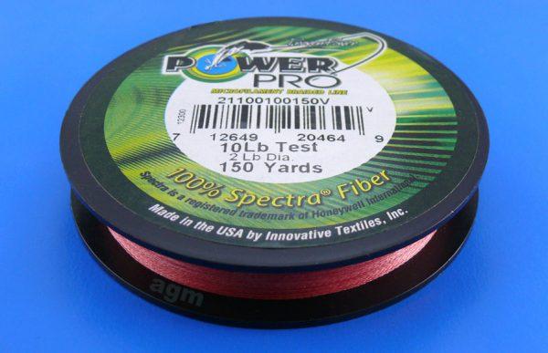PowerPro braid 10lb (150yds) - Vermilion Red
