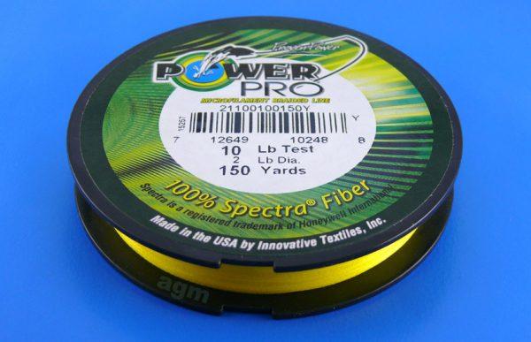 PowerPro braid 10lb (150yds) - Hi-Vis Yellow
