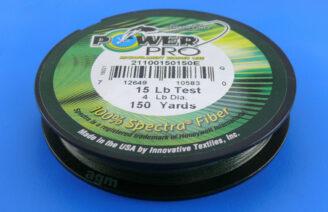 PowerPro braid 15lb (150yds) - Moss Green