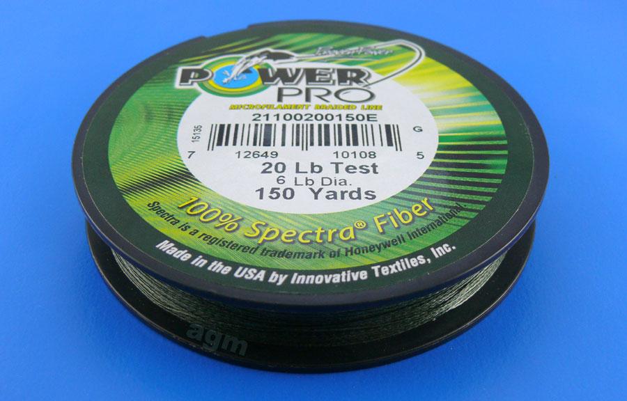 PowerPro braid 20lb (150yds) - Moss Green