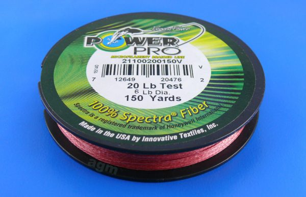 PowerPro braid 20lb (150yds) - Vermilion Red