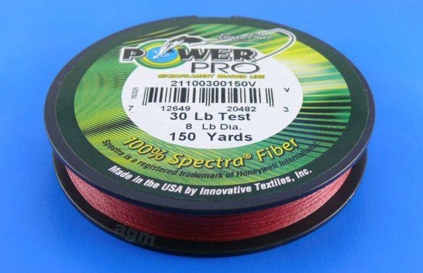 PowerPro braid 30lb (150yds) - Vermilion Red