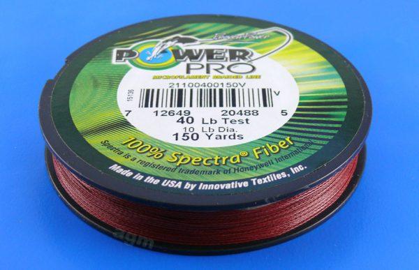 PowerPro braid 40lb (150yds) - Vermilion Red