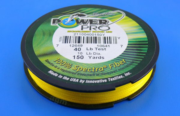 PowerPro braid 40lb (150yds) - Hi-Vis Yellow