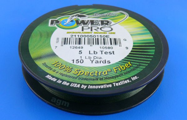 PowerPro braid 5lb (150yds) - Moss Green