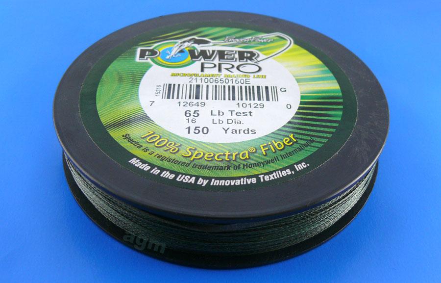 PowerPro braid 65lb (150yds) - Moss Green