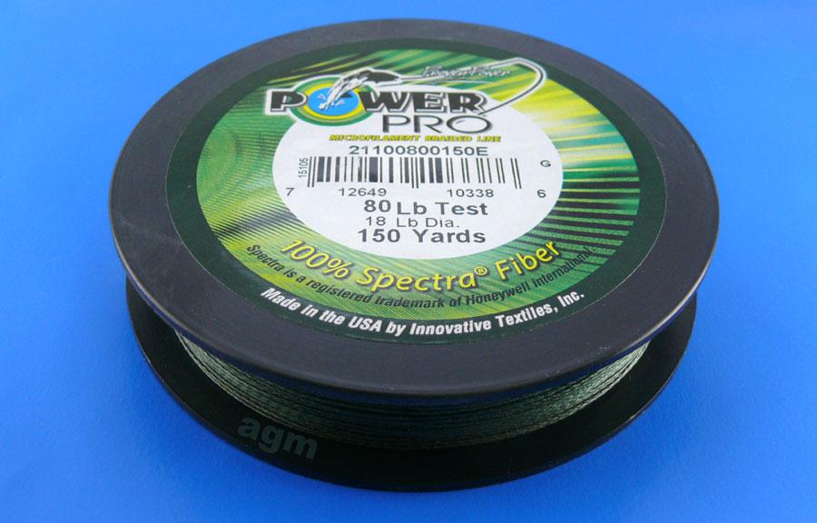 PowerPro braid 80lb (150yds) - Moss Green