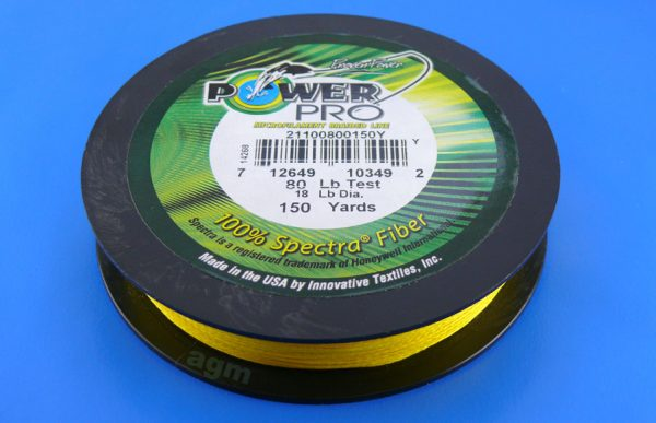 PowerPro braid 80lb (150yds) - Hi-Vis Yellow