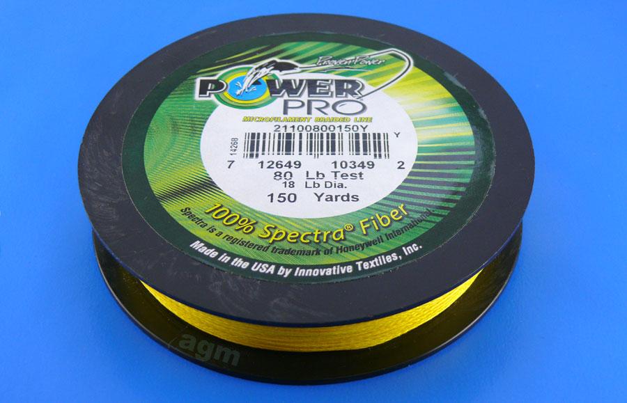 PowerPro braid 80lb (150yds) - Hi-Vis Yellow