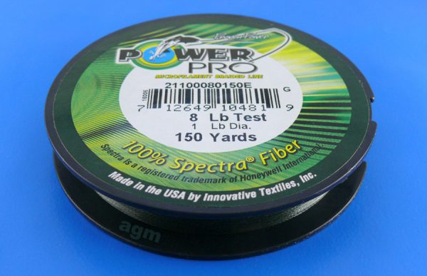 PowerPro braid  8lb (150yds) - Moss Green