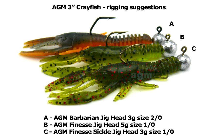 "AGM 3"" Crayfish - Pumpkinseed (8pcs)"