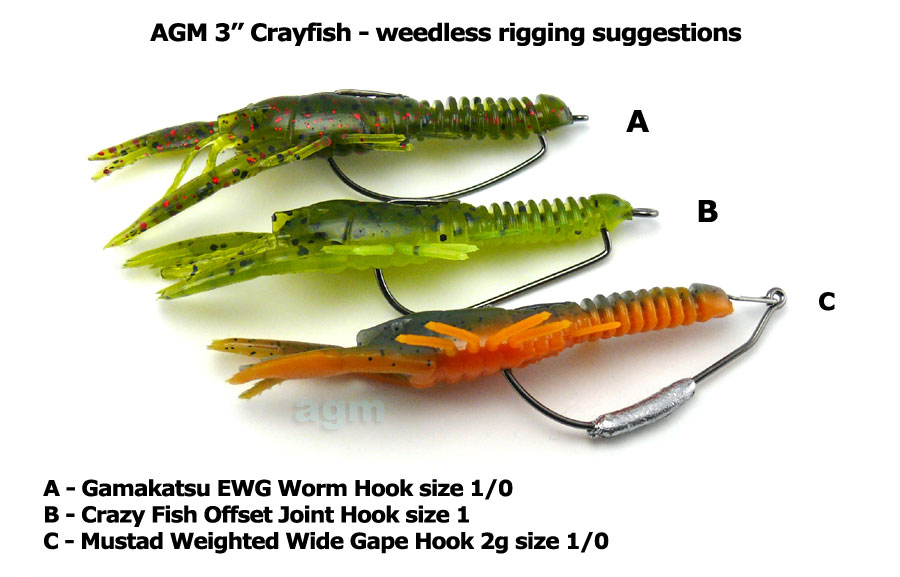 "AGM 3"" Crayfish - Pumpkinseed (8pcs)"