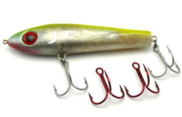 Storm Wildeye Suspending Mullet - Pearl/Chart (+ spare hooks)
