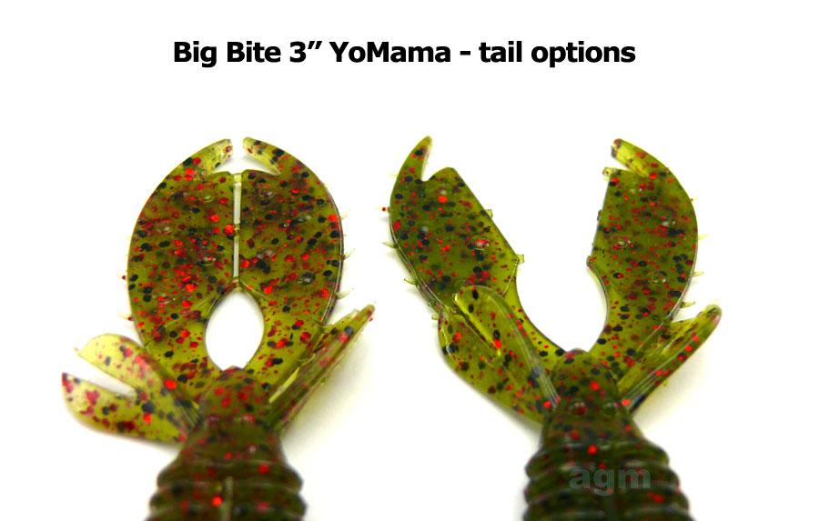 "Big Bite 3"" YoMama - Pumpkin/Chartreuse (10pcs)"