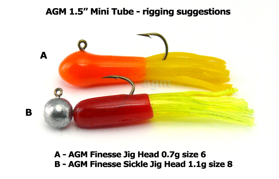 "AGM 1.5"" Mini Tube - Smoke/Silver Flake (10pcs)"