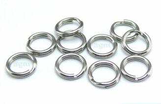AGM Stainless Steel Split Ring 6.1mm/40lb (10pcs)