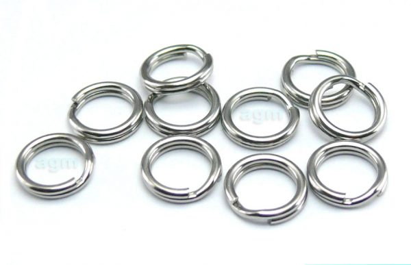 AGM Stainless Steel Split Ring 6.1mm/40lb (10pcs)