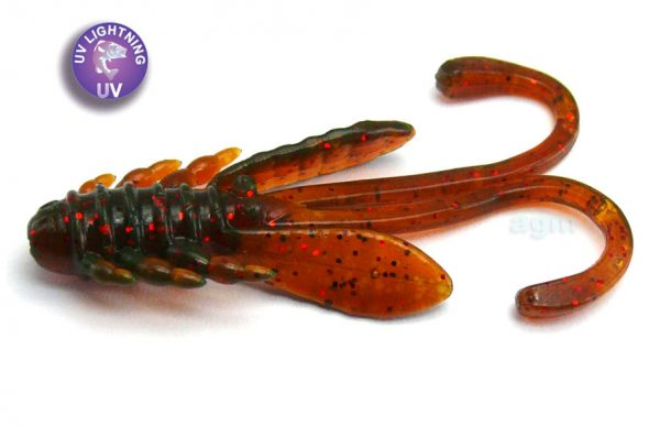 "Crazy Fish 1.6"" Allure - 14 UV Motor Oil (8pcs)"