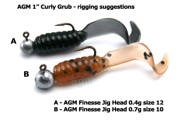 "AGM 1"" Curly Grub - Chartreuse Pearl (20pcs)"