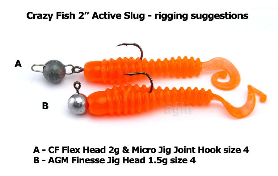 "Crazy Fish 2"" Active Slug - 64 Fluo Orange (10pcs)"